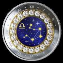 2019 Canadian $5 Zodiac Series: Libra - Swarovski® Crystal & Fine Silver Coin