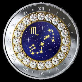 2019 Canadian $5 Zodiac Series: Scorpio - Swarovski® Crystal & Fine Silver Coin