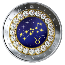 2019 Canadian $5 Zodiac Series: Taurus - Swarovski® Crystal & Fine Silver Coin