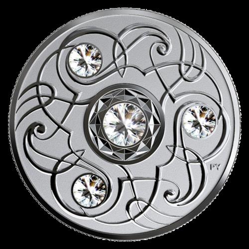 2020 Canadian $5 Birthstone Series: April - Swarovski® Crystal & Fine Silver Coin