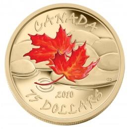 2010 Canada 14-karat Gold $75 Coin - Fall Maple Leaf