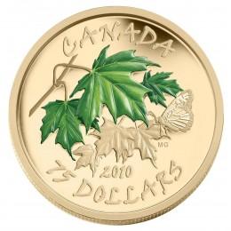 2010 Canada 14-karat Gold $75 Coin - Summer Maple Leaf