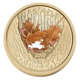 2010 Canada 14-karat Gold $75 Coin - Winter Maple Leaf