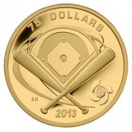 2013 Canada Pure Gold $75 Coin - Baseball Diamond