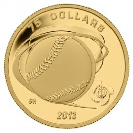 2013 Canada Pure Gold $75 Coin - Hardball