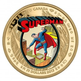 2013 Canadian $75 Superman™: The Early Years - 14-karat Gold Coin