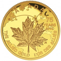 2015 Canadian $75 Allied Gold - 1/4 oz Pure Gold Coin