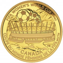 2015 Canadian $75 FIFA Women's World Cup: The Championship Game - 1/4 oz Pure Gold Coin