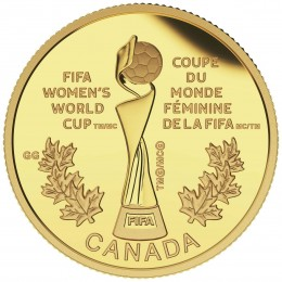 2015 Canadian $75 FIFA Women's World Cup: The Trophy - 1/4 oz Pure Gold Coin