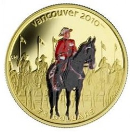2007 Canada 14-karat Gold $75 Coin - Vancouver 2010 Olympic Winter Games: Royal Canadian Mounted Police