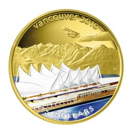 2008 Canada 14-kt Gold $75 Coin - Vancouver 2010 Olympic Winter Games: Home of the 2010 Olympic Winter Games