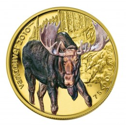2009 Canada 14-karat Gold $75 Coin - Vancouver 2010 Olympic Winter Games: Moose