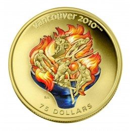 2009 Canada 14-karat Gold $75 Coin - Vancouver 2010 Olympic Winter Games: Olympic Spirit