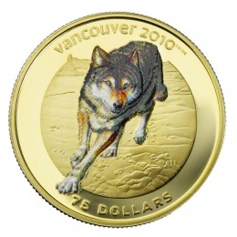 2009 Canada 14-karat Gold $75 Coin - Vancouver 2010 Olympic Winter Games: Wolf