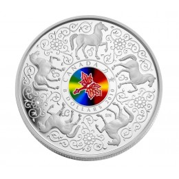 2010 Canadian $8 Maple of Strength Sterling Silver Coin