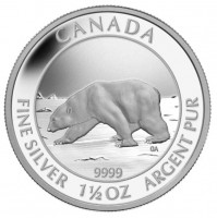2013 Fine Silver 8 Dollar Coin - Polar Bear