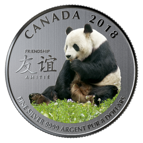 2018 Canadian $8 The Peaceful Panda, a Gift of Friendship - Fine Silver Coin