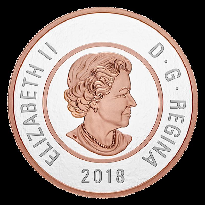 2018 Canadian 2 Big Coin Series Polar Bear 5 Ounce Fine