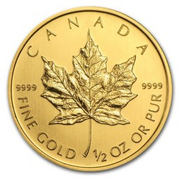 1/2 oz Canada Gold Maple Leaf Bullion Coin - Random Year