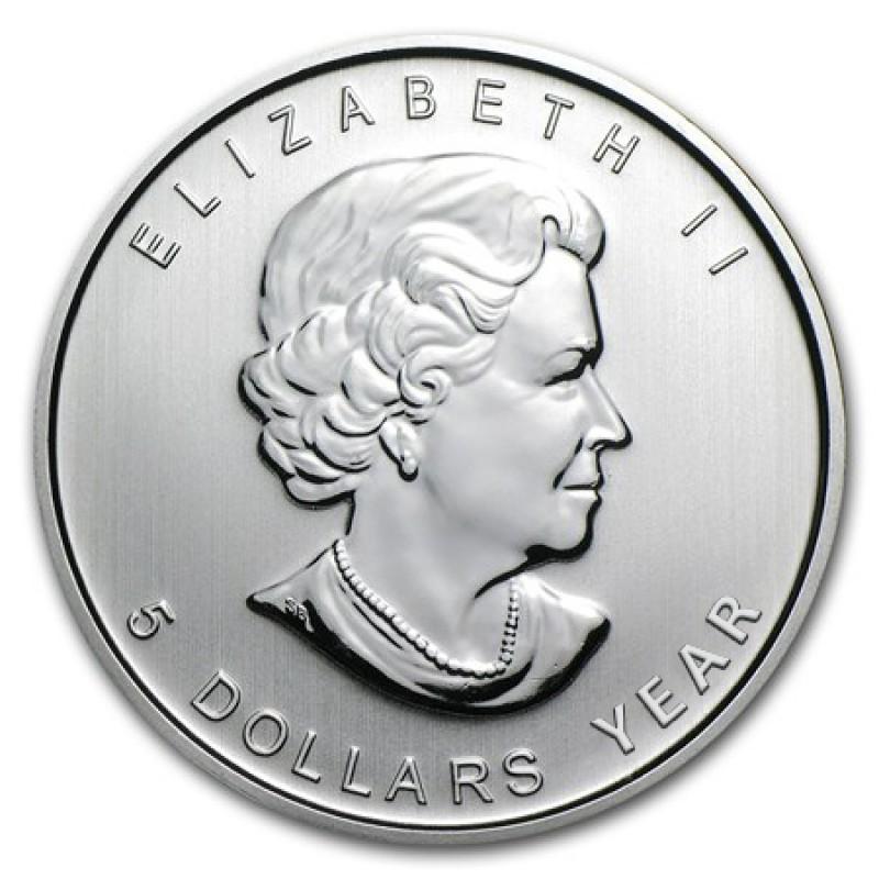 1 Oz Canada Silver Maple Leaf Bullion Coin Random Year