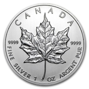 1 oz Canada Silver Maple Leaf Bullion Coin - Random Year
