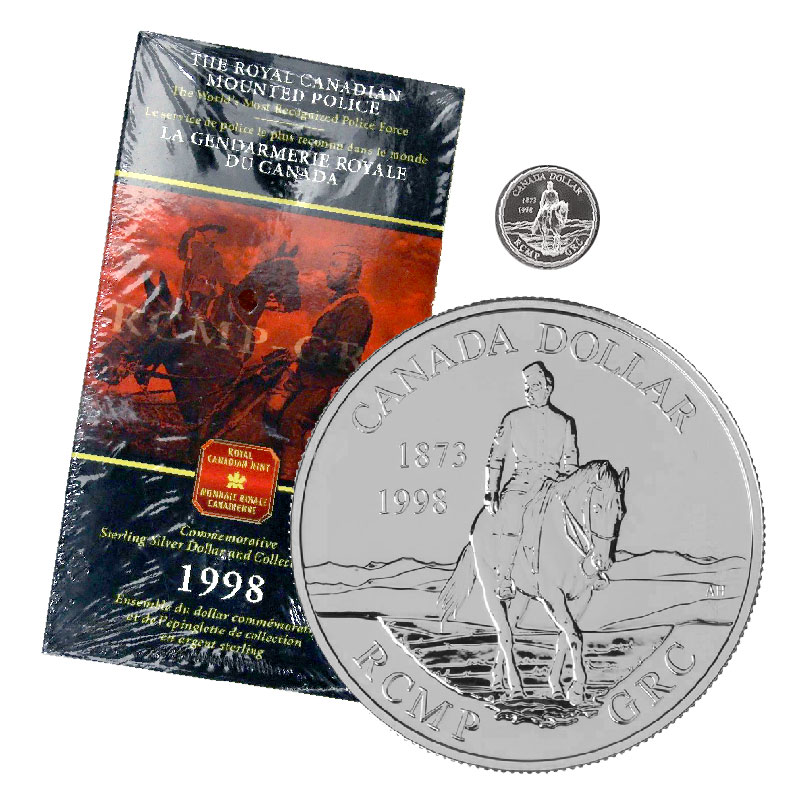 1998 RCM Sterling Silver 8-Coin Set with Proof Dollar Celebrating 125 with RCMP