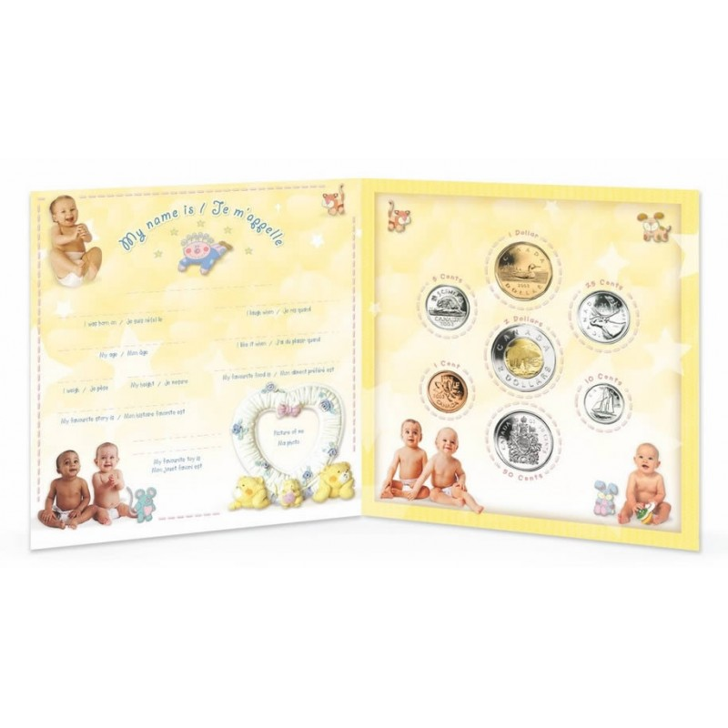 Baby Gift Set Coins : Canada baby coin gift set
