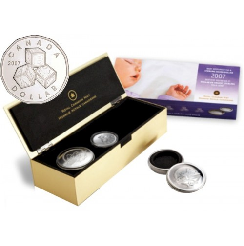 2007 Baby Keepsake Tins & Sterling Silver Dollar