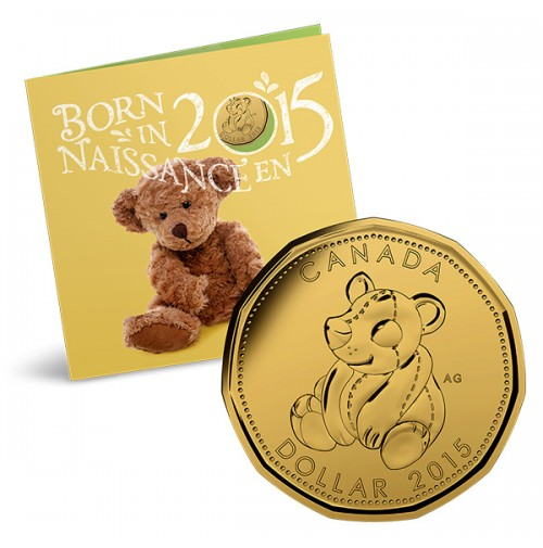 Baby Gift Set Coins : Canada baby coin gift set teddy bear