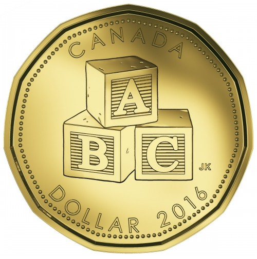 Baby Gift Gold Coin : Canada baby coin gift set alphabet blocks