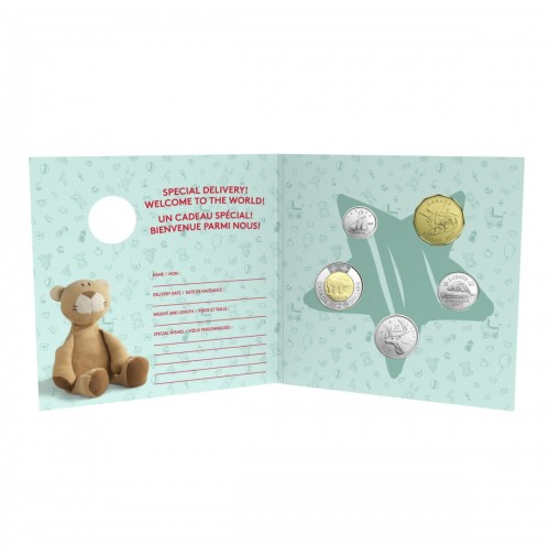 Baby Gift Set Coins : Canada baby coin gift set rocking horse
