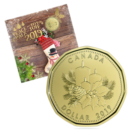 2019 Canadian Holiday 5-Coin Gift Set ft Special Loonie Dollar