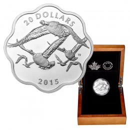 2015 Canadian $20 Master of the Sky: Canada Goose Fine Silver Scallop Coin *Masters Club Exclusive*