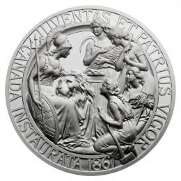 2017 (1967-) Canadian $100 Canadian Confederation Medals: Juventas et Patrius Vigor - 10 oz Fine Silver Coin