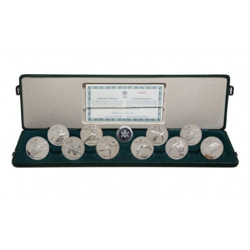 1985-1988 Canada Calgary Olympic Winter Games $20 Silver Coin Set