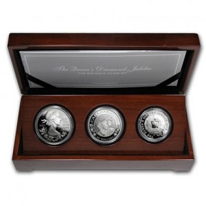 2012 Canada Royal Silver 3-Coin Set - The Queen's Diamond Jubilee