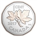 2017 Canadian Legacy of the Penny - Fine Silver & Gold-plated 5-Coin Set (No Outer Box/Sleeve)