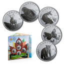 2019 Canadian 50-Cent Canada's Wildlife Treasures 5-Coin Set