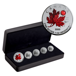2020 (1980-) Canadian Fine Silver 5-Coin Maple Leaf Fractional Set - O Canada