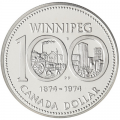 1974 (1874-) Canada Double Dollar Prestige Set - Winnipeg Centennial- coins may be lightly toned, case slightly scuffed