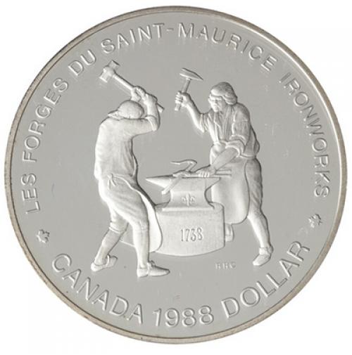 1988 Canada Proof Double Dollar Set Les Forges Du Saint Maurice Ironworks