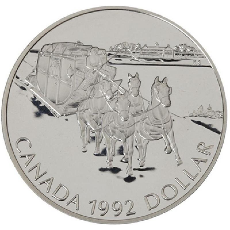 Canada 1992 Stagecoach Double Dollar Set