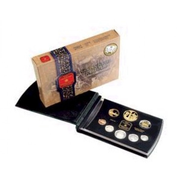 2002 Canada Proof Double Dollar Set - Golden Jubilee (Gold Plated)