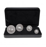2004 Canada Arctic Fox Fine Silver Fractional 4-Coin Proof Set