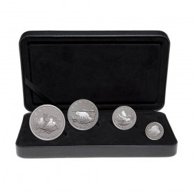 2004 Fine Silver Fractional 4-Coin Proof Set - Canada Arctic Fox