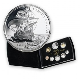 2004 Canada Double Dollar Proof Set - 400th Anniversary of the First French Settlement in North America-A.N.A.set