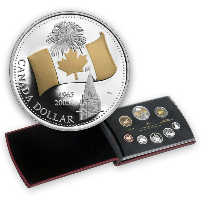 2005 40th Anniversary National Flag RCM Royal Canadian Mint Coin G914