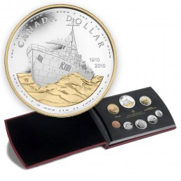 2010 Canada Proof Double Dollar Set - 100th Anniversary of the Canadian Navy- coins may be lightly toned
