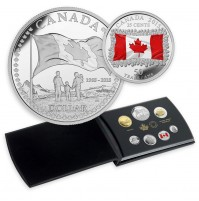 2015 Canadian Special Edition Proof Fine Silver Double Dollar Set - 50th Anniversary of the Canadian Flag