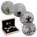 2015 Canadian $20 Looney Tunes - Fine Silver 4-Coin Set and Wrist Watch